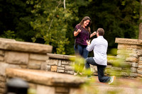 Chris and Kledia Proposal at the Ritter Park Rose Garden in Huntington, WV